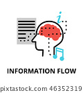 information flow icon 46352319