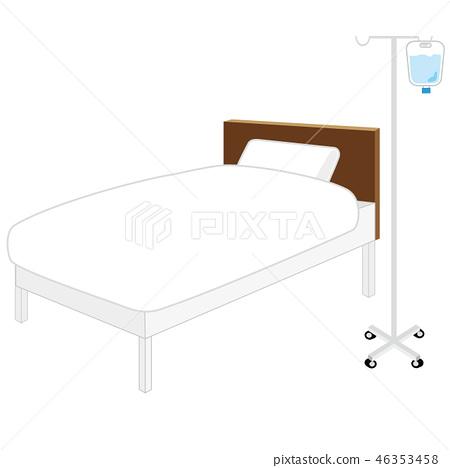 Illustration of a hospital bed 46353458