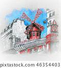 Moulin Rouge in Paris, France 46354403
