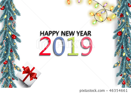 Abstract new year background vector design. 46354661
