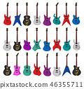 Set of electric guitars 46355711