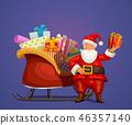 santa, christmas, sleigh 46357140