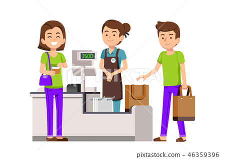 Use of cloth bag for Shopping in supermarket.  46359396