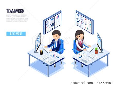 Teamwork office concept. 46359401