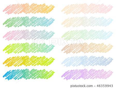 色的鉛筆樣式標題裝飾集合 46359943