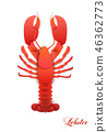 the sea animal in fashion paper-cut craft of graphic design. lobster crab. Modern design for 46362773