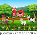 農場 農民 農夫 46362832