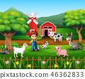 農場 農民 農夫 46362833