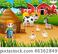 農業 動物 農家 46362849