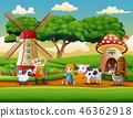 農民 農夫 動物 46362918