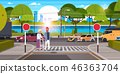 road crosswalk city 46363704