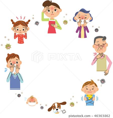 감기 가족과 복사 공간 46363862