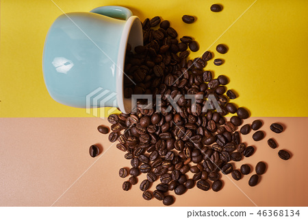 차,원두,원두커피,커피,커피콩,음식,음료,음료수,디저트,티타임,마실것,휴식,커피잔,컵 46368134