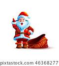 Illustration isolated character santa 46368277