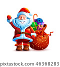 Illustration isolated character santa 46368283