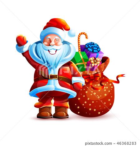 Illustration isolated character santa 46368283