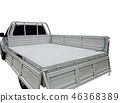 Rear view of empty pick-up truck bed 46368389