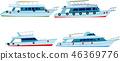 set of motor yachts 46369776