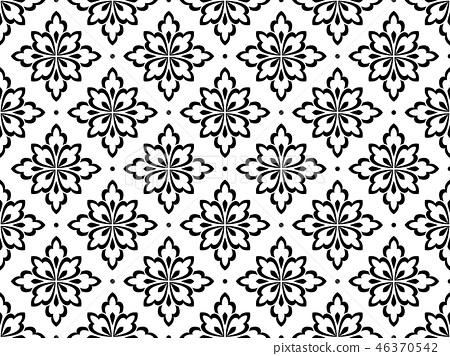 Flower geometric pattern. Seamless background.  46370542