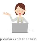 女商人休閒計算機 46371435