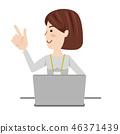 女商人休閒計算機 46371439