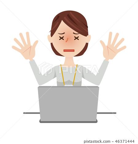 女商人休閒計算機 46371444