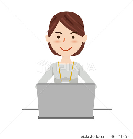 Business woman casual computer 46371452