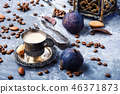 Coffee cup and coffee beans 46371873