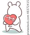 北極熊情人節後視圖 46372415
