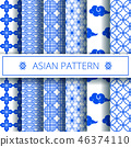 asian blue pattern 46374110