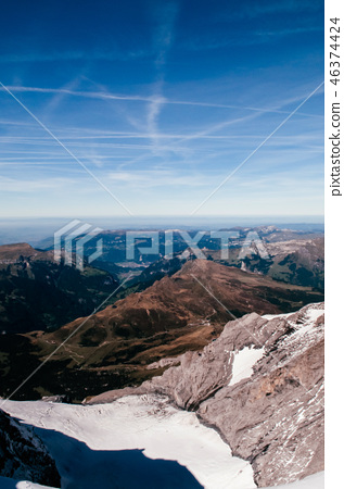 View Swiss alps mountain rage from Jungfraujoch 46374424