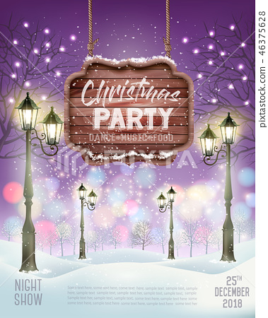 Christmas Holiday Party Flyer background 46375628