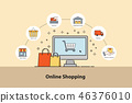 Online Shopping concept.  46376010