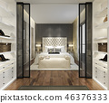 bedroom interior modern 46376333