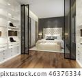 bedroom interior modern 46376334