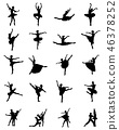 Black silhouettes of ballerinas  46378252