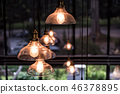 Lighting lamp hanging with natural background 46378895