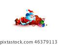 santa claus sleeping slumber tired 46379113