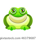 Cute frog cartoon isolated on white background 46379687