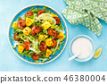 Mango shrimps salad with red pepper and lime 46380004
