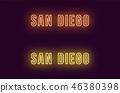 加州 加利福尼亚 霓虹灯 46380398