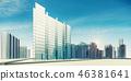 City scene 3d rendering 46381641