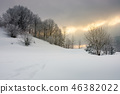 gorgeous winter sunrise in mountains 46382022