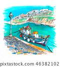 Harbour on Mykonos, Greece 46382102