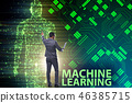 Machine learning concept as modern technology 46385715