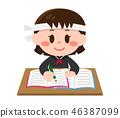 女孩学习(水手服,八幡) 46387099