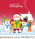 Christmas background with Santa Claus 46389152