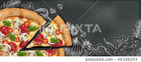 Pizza banner ads 46389203