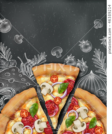 Pizza poster ads 46389214