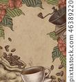 咖啡 咖啡豆 木刻 46389220